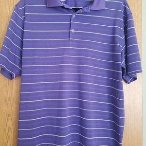 Mens Nike Purple Dri Fit Golf Shirt Size Medium